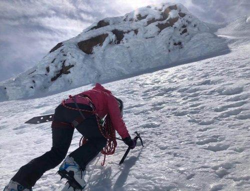 Beginner ski mountaineering on Ruapehu