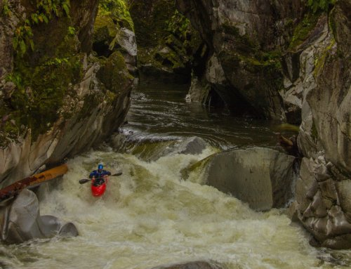 Paddling flooded rivers